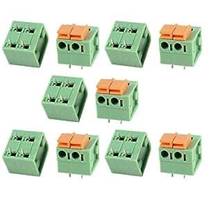 10 piezas de KF142R 2 Posicione 5,08 4Pin terminal de resorte Bloques de 300V 10A