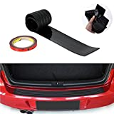 Car Scratch Bar Diadia Universal Car Black Rear Bumper Sill/Protector Plate Rubber Cover Guard Trim Pad