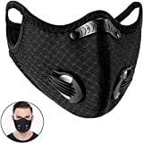 Dukars Sports Mask, Dustproof Mask Activated Carbon Filtration Exhaust Gas Anti Pollen Allergy PM2.5 Workout Running Motorcycle Cycling Mask