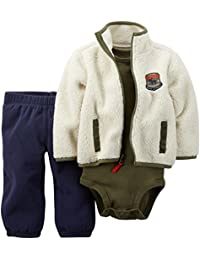 Carter's Baby Boys' 3 Piece Cardigan Set - White/Navy - 12 Months