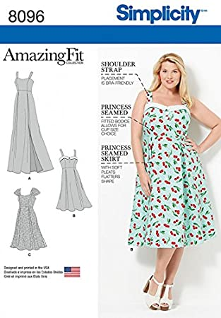 Amazon Simplicity Ladies Sewing Pattern 40 Princess Seam Delectable Princess Seam Dress Pattern