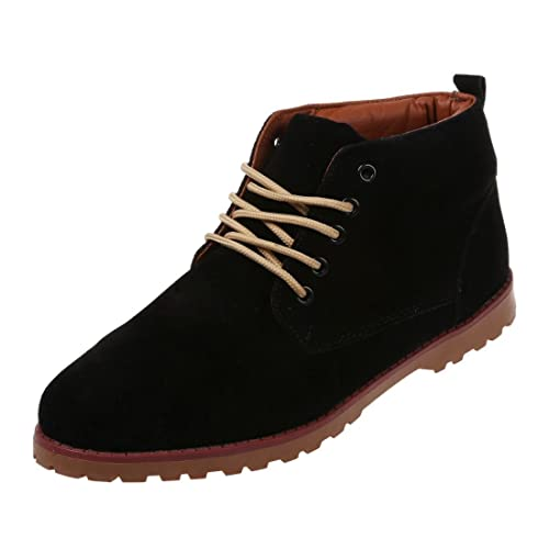 TOOGOO (R) Nueva moda britanicos para hombre Casual de encaje gamuza Botines Mocasines Zapatillas