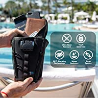 Cruise Ship More. Pool on Shark Tank Packable FlexSafe by AquaVault Use at the Beach : Anti-Theft Portable Beach Chair Vault and Travel Safe Waterpark Lightweight /& Slash Resistant