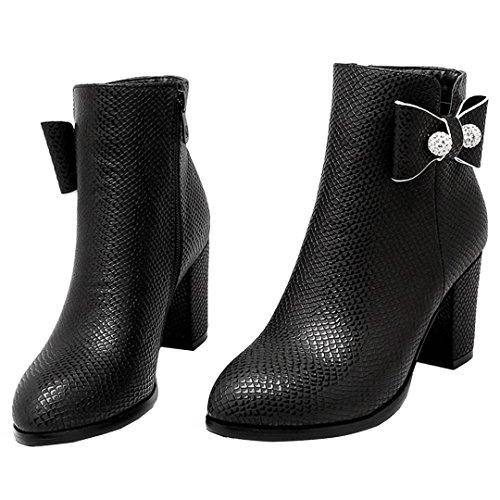 AIYOUMEI Women's Classic Boot Black xSyVuZD