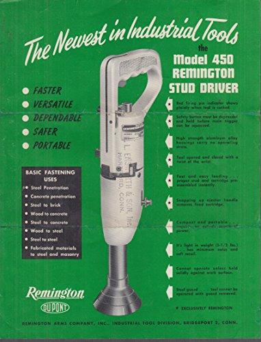 Du Pont Remington Model 450 Stud Driver sales folder 1951