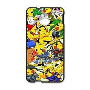 Yellow Cute Pikachu Pocket Monster Black HTC M7 case