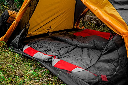 TETON Sports Tracker Ultralight Double Sleeping Bag; Lightweight Backpacking Sleeping Bag for Hiking and Camping Outdoors; Compression Sack Included; Never Roll Your Sleeping Bag Again 8
