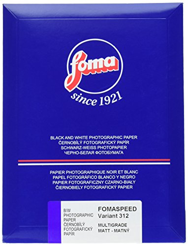 Foma Fomaspeed 312 Variant III VC RC Matte Black & White Photographic Paper, 5x7, 25 Sheets