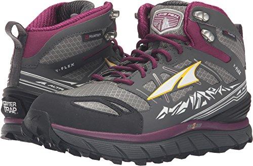 Altra Women's Lone Peak 3 Mid Neo Running Shoe, Color: Gray/Purple, Size: 5.5, W