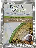 Davis Finest Reetha Aritha Soap Nut Powder - Pure Chemical SLS Free Natural Hair Loss Growth Soap Shampoo Conditioner Leaves Soft Healthy Skin Scalp - Eczema Lice Treatment (100g)