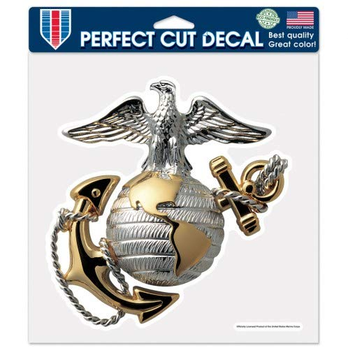 Wincraft United States Marines 8 X 8 Die-Cut Perfect Cut Decal