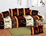 Innovative Edge Printed Cotton Deewan Set With 5 Pillow Covers and 2 Bolsters...
