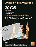 Orange Holiday Europe Prepaid SIM Card 20GB Internet Data in 4G/LTE