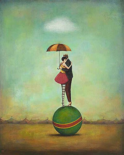 Circus Romance Duy Huynh Fantasy Romance Figurative Umbrella Poster (Choose Size, Print or Canvas)