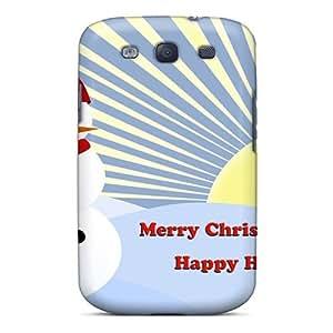 Bernardrmop Galaxy S3 Hybrid Tpu Case Cover Silicon Bumper Christmas Deer