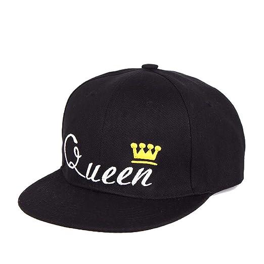 Gorra de béisbol King Queen Crown Bordado Snapback Sombrero ...