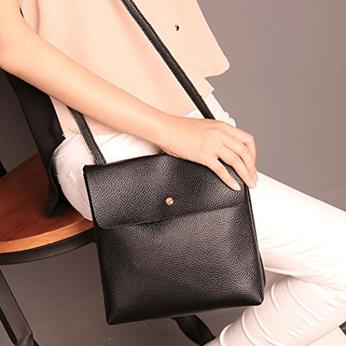 Black Womens Satchel Bag Backpack Inkach Fashion Rucksack Travel Leather Bags Purse School 7UnO4P