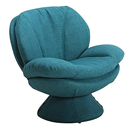 Surprising Amazon Com Pemberly Row Swivel Accent Chair In Blue Pabps2019 Chair Design Images Pabps2019Com