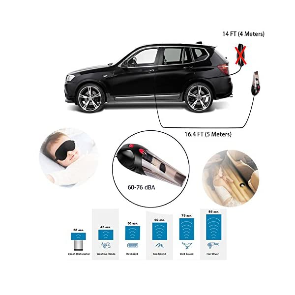 Car Vacuum Cleaner ANNKOO DC 12V 106W 3500PA Suction WetDry Portable Car Handheld Auto Vacuum Cleaner Tools With Cigarette Lighter 164FT5M Power Cord With Carry Bag