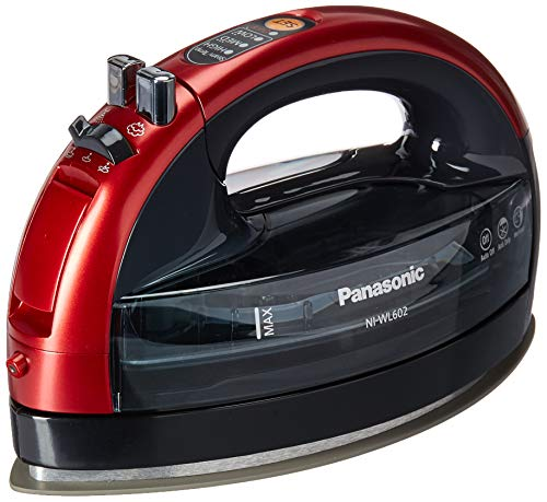 Panasonic 360 Ceramic Cordless Freestyle Metallic Red Iron,