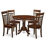 East West Furniture HLCA5-MAH-W 5 Piece Hartland Set, Mahogany