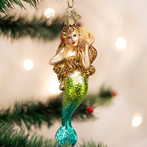 Old World Christmas Ornaments: Mermaid Glass Blown Ornaments for Christmas Tree (10196)