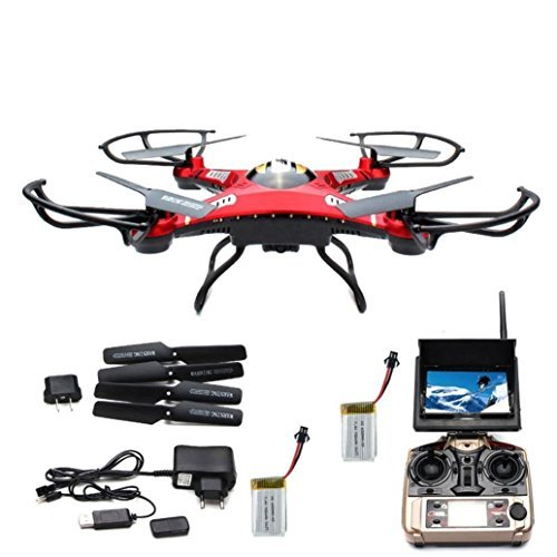Womail JJRC H8D RC Quadcopter Drone 5.8G FPV HD Camera+Monitor+2 Battery Xmas Gift by Womail