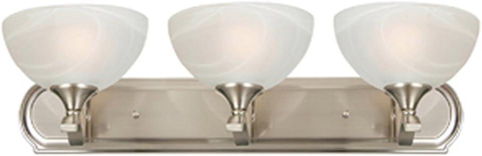 Aa Warehousing L33s Rick Metal Cloud 3 Bathroom Vanity Light Brushed Finish With White Glass Shade Satin Nickel Silver Amazon Com