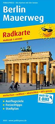 Berlin Mauerweg: Radkarte mit Ausflugszielen & Freizeittipps und Stadtplan sowie S- und U-Netz, wetterfest, reissfest, abwischbar, GPS-genau. 1:60000 (Radkarte / RK) Landkarte – Folded Map, 1. Mai 2018 PUBLICPRESS 3747305016 Berlin / Stadtplan Umgebung