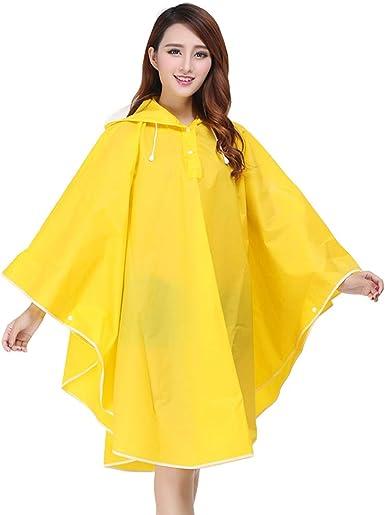 Red Beautiful EVA Women's Raincoat Waterproof Outdoors Jacket Long Hooded Poncho