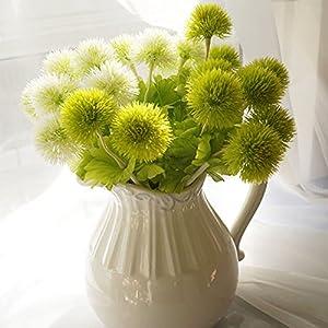 Beautiful Exquisite Artificial Dandelion Flower 1 Head Grass Ball Garden Wedding Floral Home Decoration 5