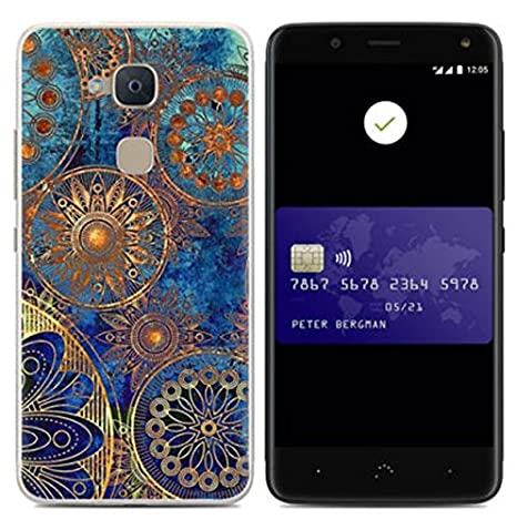 Prevoa Funda para BQ Aquaris V Plus/VS Plus - Colorful Silicona TPU Funda Case para BQ Aquaris V Plus/VS Plus Smartphone - 7