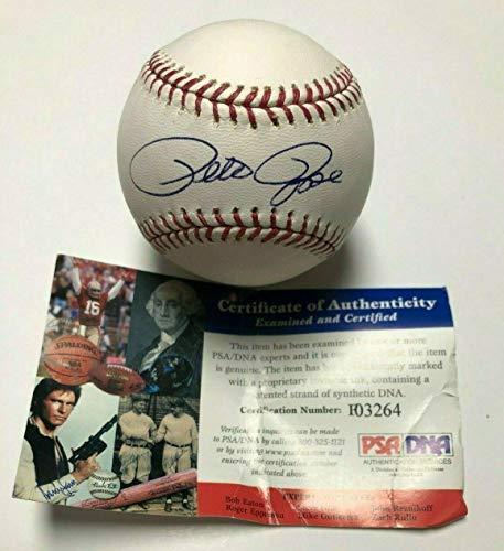 King Autographed Baseball - Pete Rose Autographed Ball - Major League * *Hit King F03264 - PSA/DNA Certified - Autographed Baseballs