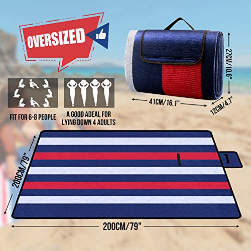 Outdoor Waterproof Picnic Blanket, Extra Large 79\