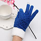 Pyrsun(TM) Christmas Soft Touch Screen Accessories Gloves Womens Winter Warm Mittens Fluorescence Knitting Pattern Glove Gifts For Girls