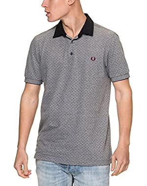 Mens Polka Dot Oxford Pique Shirt