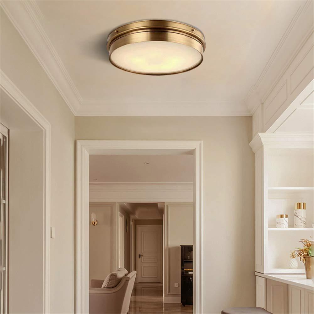 WSYYWD Lámpara de techo de cobre del país moderno minimalista ...