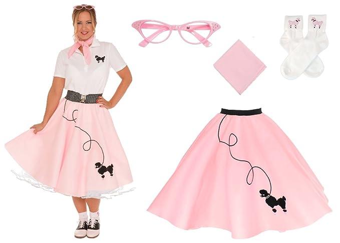 Poodle Skirts   Poodle Skirt Costumes, Patterns Hip Hop 50s Shop Adult 4 Piece Poodle Skirt Costume Set $57.82 AT vintagedancer.com