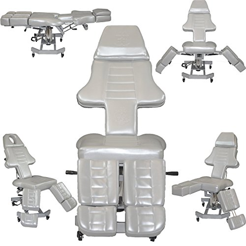 Studio Salon - NEW Patented InkBed Gray Hydraulic Client Tattoo Massage Bed Chair Table Ink Bed Studio Salon Equipment