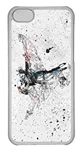 Customized iphone 5C PC Transparent Case - Dancing In The Ashes Personalized Cover