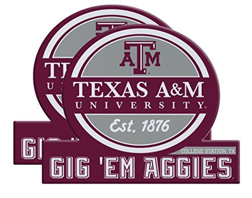 (Texas A&M Aggies Jumbo Tailgate Magnet Set of 2 )