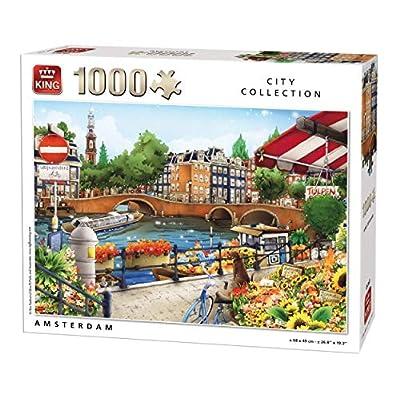 King 5363 Amsterdam Puzzle Da Pezzi 49 X 68 Cm