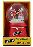 M&Ms Christmas Winter Snow Globe with Chocolate Candies