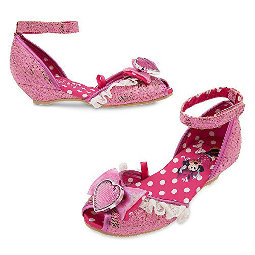 Disney Minnie Mouse Costume Shoes for Kids Size 9/10 YTH Pink (Accented Piping Trim)