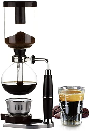 Home Style Siphon coffee maker Tea Siphon pot vacuum coffeemaker glass type coffee machine filter 3cup