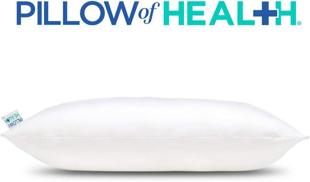 """Pillow of Health Chiro Elite Adjustable Pillow, King Size 20"""" x 34"""", Customizable Firmness, Hypoallergenic, Antimicrobial, Cooling Wickable Cover, Medical Grade Pressure Relief: Home & Kitchen"""