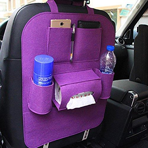 Fabal New Auto Car Seat Back Multi Pocket Storage Bag Organizer