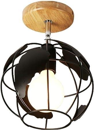 ABECD Corredor nórdico Pasillo Luz Personalidad de Madera Original Diseño Simple Creativo Luces de la Tierra Entrada Escalera Guardarropa Balcón Ventana de Techo Luz de Techo: Amazon.es: Hogar