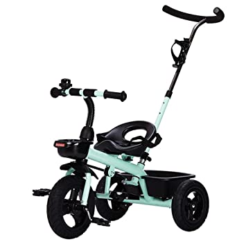 QIAOXC Carrito Triciclo Carro de bebé Bicicleta Niño Juguete Coche Titanio Ruedas vacías Doble Freno Bicicleta