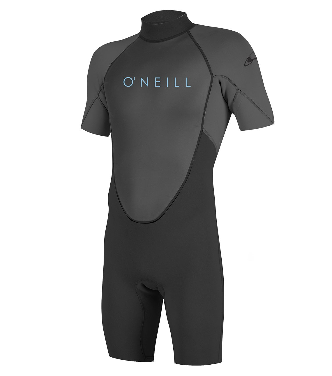 O'Neill Youth Reactor-2 2mm Back Zip Short Sleeve Spring Wetsuit, Black/Graphite, 6 by O'Neill Wetsuits (Image #1)